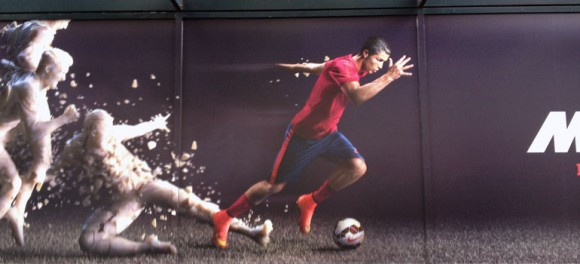 Ronaldo is everywhere. This photo was taken by UBC's Luis LM Aguiar at a downtown Seattle mural.