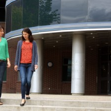 Asst. Prof. Cristina Caperchione, left, and research assistant Marianne Clark are encouraging female breast cancer survivors to get a group of friends involved in a sustainable exercise program.