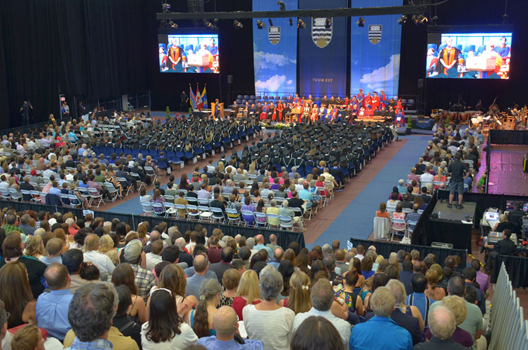 UBC's 2014 Convocation saw 1,585 degrees conferred over two days of graduation ceremonies. A record 1,650 degrees will be awarded at Spring 2015 Convocation.