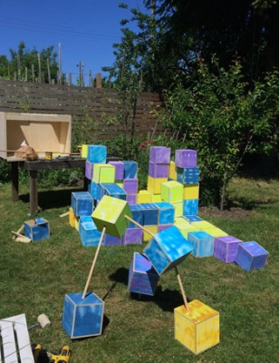 Small World, a community art event created by UBC sculpture professor Samuel Roy-Bois, invites the community to participate in the creation of a three-dimensional structure that represents the interconnections of humans and nature.