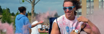 The annual colour run, a colourful welcome for all new-to-UBC students, takes place at 3 p.m. Sept. 8 on the University Commons.
