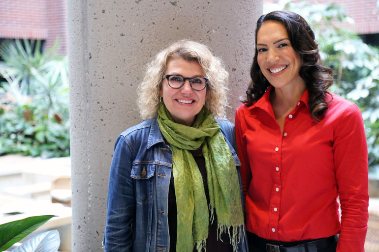 Jeanette Vinek, senior instructor with the School of Nursing, and Mary Jung, assistant professor with the school of Health and Exercise Sciences, have teamed up to bring mindfulness training to first-year nursing students.