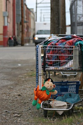 It's common practice for homeless people to use shopping carts to house their belongings. A Kelowna-based project, involving many community partners including UBC, is working to make the carts a better storage option for homeless people.