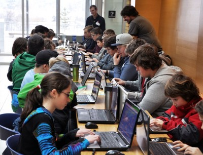 About 100 School District 23 students, aged eight to 18, spent Saturday at UBC Okanagan learning how to code. The event took place on the heels of Premier Christy Clark's announcement last week stating coding will become part of the overall K-12 curriculum redesign.
