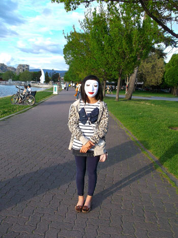 The photo <em>Woman in Mask</em> will be one of the images on display at the Alternator Centre for Contemporary Art starting February 26.