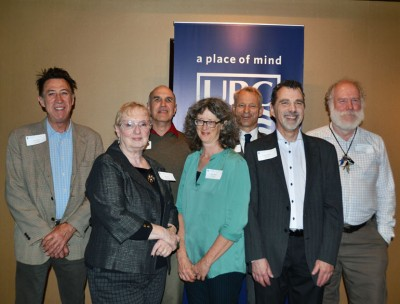 Long service employees at UBC's Okanagan campus were honoured Thursday. Pictured are: Gary Pearson, Robin Dods, Daniel Dural, Nancy Holmes, Rob Johnson, Bernard Momer and Ian Walker. Missing from the photo are: Briar Craig, Linda Hatt, Carl Hodge, Mark Holder, Patricia Tomic and Linda Falkingham.