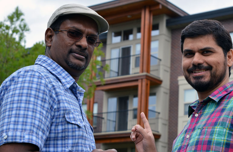 UBC researchers Kasun Hewage (left) and Mohammad Kamali believe modular construction needs a closer look.