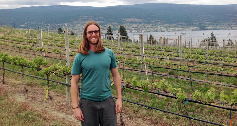 UBC PhD candidate Taylor Holland has spent the better part of three years studying soil samples from vineyards throughout the Okanagan.
