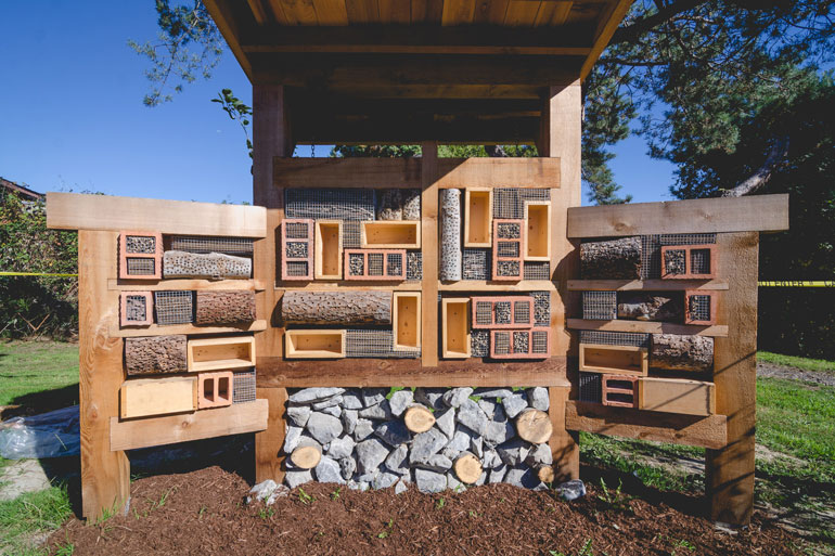 This bee hotel has been built in Richmond BC.