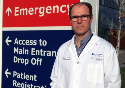 Clinical assistant professor and surgical oncologist Chris Baliksi.