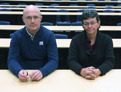UBC's Andis Klegeris (left) and Heather Hurren.