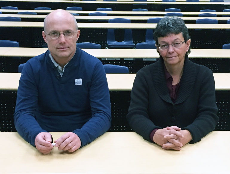 UBC's Andis Klegeris (left) and Heather Hurren.