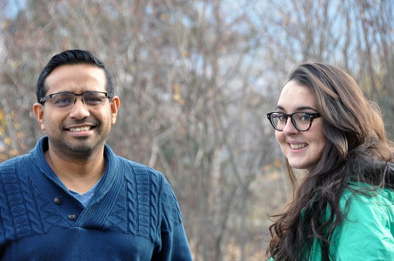 UBC researchers Matt Husain and Karina Osswald