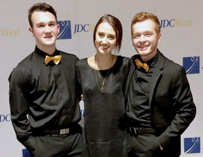 UBC Management students (from left) Tyler Hesketh, Kirstin Townsend and Alan Blackwell celebrate their first place win for the marketing category of JDC West, Western Canada's largest business competition.