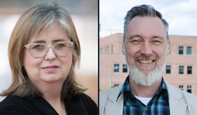 Margaret Macintyre Latta, professor of education, and Leyton Schnellert, assistant professor of education.