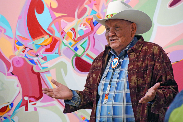 One of Canada's most iconic Aboriginal artists Alex Janvier will visit UBC from July 13 to 28.