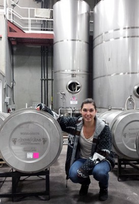 UBC Okanagan PhD candidate Sydney Morgan conducts research on wine yeast strains and how they react to sulphites.