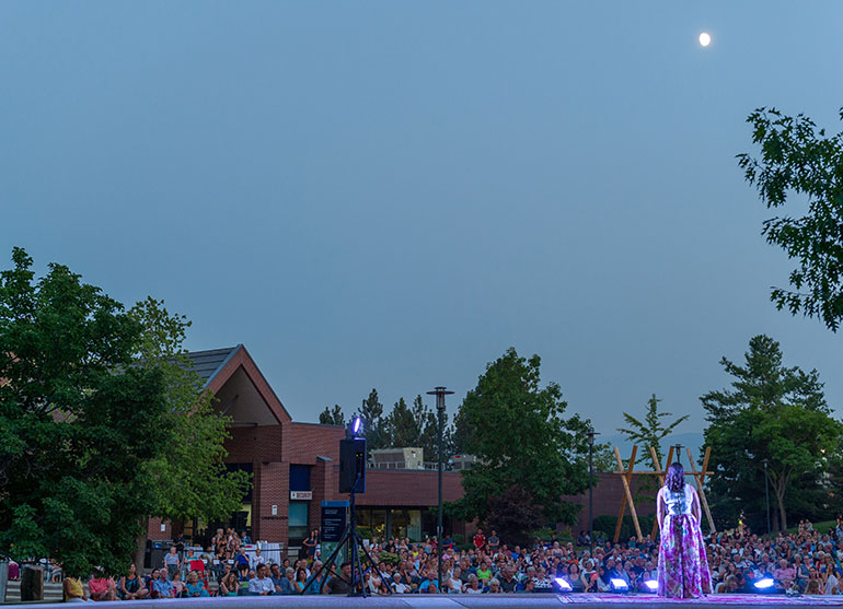 A presentation by Opera Kelowna drew hundreds of people to UBC Okanagan for Opera Under the Stars on Wednesday evening. Opera Kelowna has more open-air performances later this week, and will present a mainstage production of Puccini's La bohème at the Kelowna Community Theatre Aug. 18 and 19.
