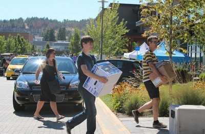 More than 1,000 students are moving into campus residences Sunday, September 3 starting at 8 a.m.