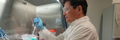 UBC assistant professor Keekyoung Kim in his lab.