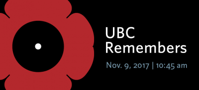 UBC community gathers to honour Canada's military veterans