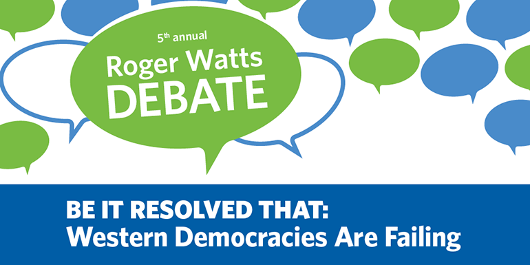 2018 Roger Watts Debate graphic
