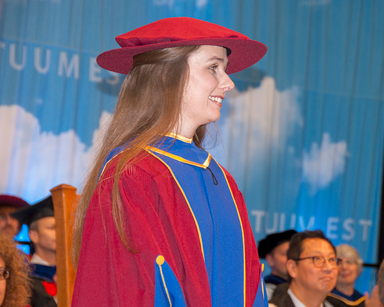 Evelyn Jensen, who graduated this week with her PhD, is the Governor General Gold Medal winner for UBC's Okanagan campus.