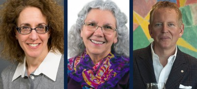 From left: Astrophysicist Victoria Kaspi, Splatsin First Nation Elder Rosalind Williams and Entrepreneur Anthony von Mandl.