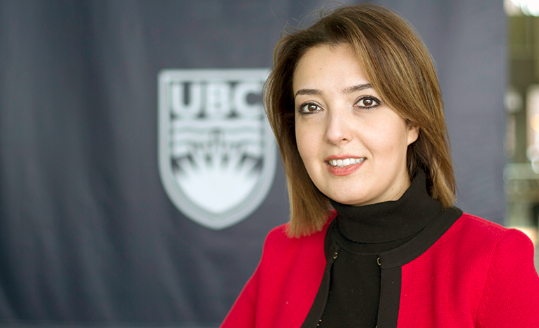 Sepideh Pakpour, assistant professor with UBC Okanagan's School of Engineering.