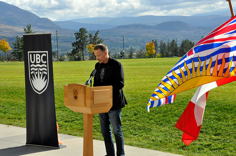 Stephen Fuhr, Member of Parliament for Kelowna-Lake Country, helped open of the Commons Field on Wednesday.