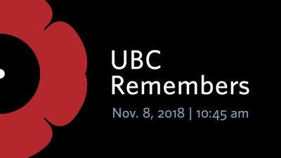 100 years after armistice, UBC community honours Canada's veterans