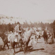 An image of Franz Ferdinand visiting the Okanagan in 1893.