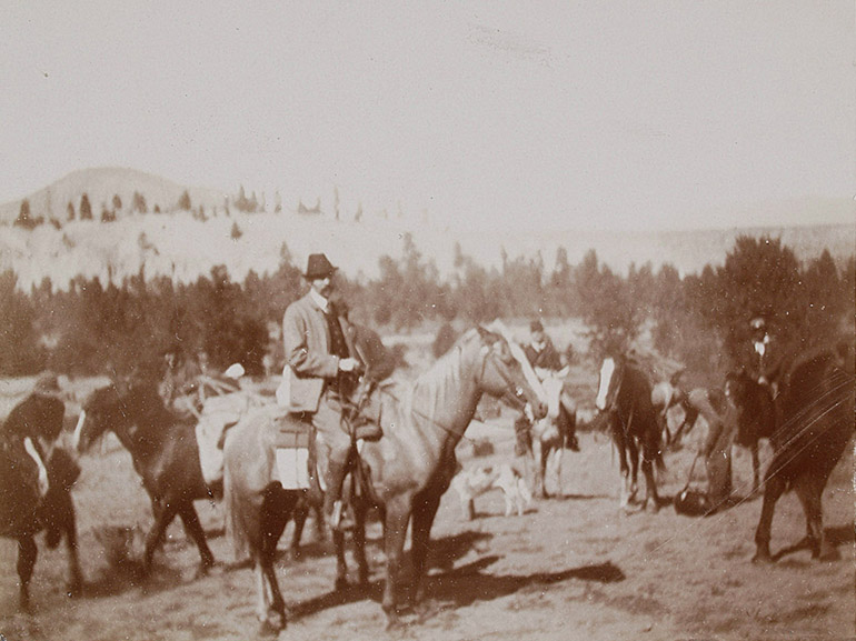 An image of Franz Ferdinand visiting the Okanagan in 1893.