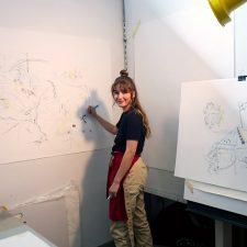 UBC Okanagan student Sarah Polak works in her studio preparing for the upcoming Bachelor of Fine Arts grad exhibition.