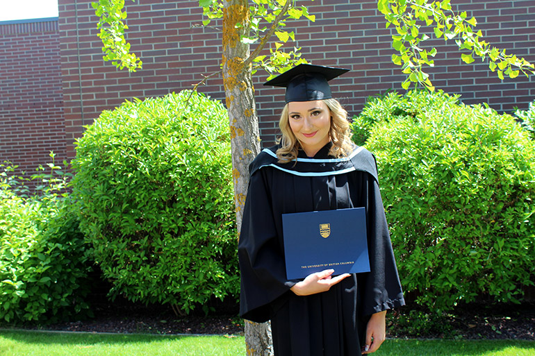 UBCO graduate Celine Edwards crossed the stage at the 11 a.m. ceremony on Thursday, June 6.