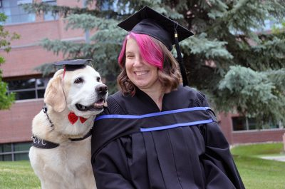 UBCO graduate Kathleen Cusmano and her dog Haven will cross the stage together during the 4 p.m. ceremony Thursday, June 6.