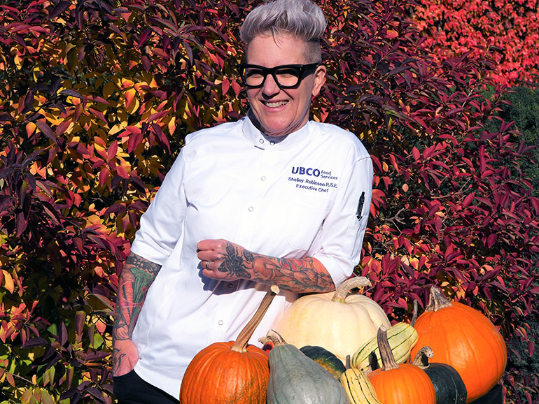 UBCO Executive Chef Shelley Robinson is a big fan of pumpkins and their versatility in the kitchen.