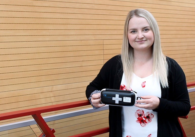 Ariel Smith, a second-year medical student, recently launched Okanagan Naloxone Training and provides free workshops on how to deal with an opioid overdose.