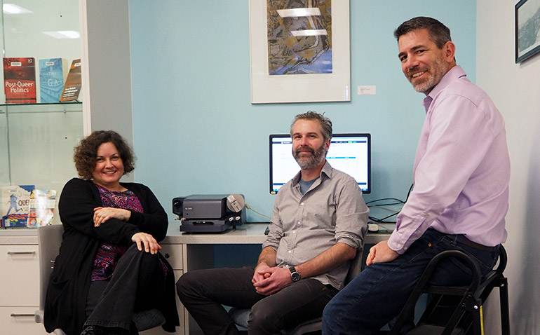 UBC Okanagan's Sharon Hanna, Mathew Vis-Dunbar and Jason Pither announced this week UBC is the first Canadian university to sign on to the Center for Open Science's online platform, OSF Institutions.