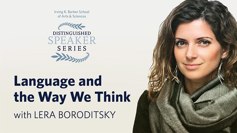 Cognitive scientist Lera Boroditsky