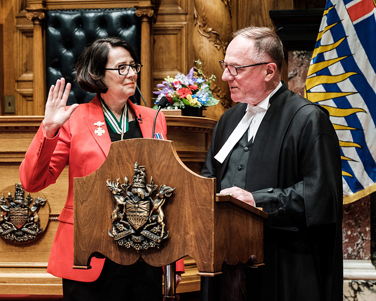 The Honourable Janet Austin, OBC,Lieutenant Governor of British Columbia.