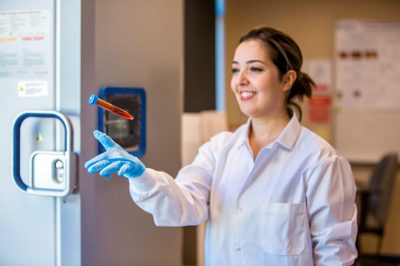 Sepideh Pakpour, a School of Engineering assistant professor, says test show levitating human plasma may lead to faster, more reliable, portable and simpler disease detection.