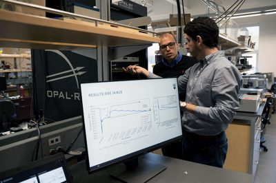 UBCO's Morad Abdelaziz and Yuri Rodrigues and have been researching the impact microgrids would have on the distribution and conservation of electrical power.