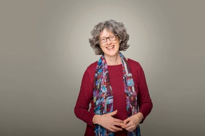 Nancy Holmes, poet and associate professor in UBC Okanagan's Faculty of Creative and Critical Studies.
