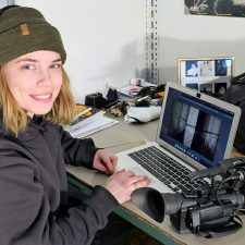 UBCO fine arts graduate Sara Spencer works on a video while creating her art instalment for the graduate student virtual exhibition.