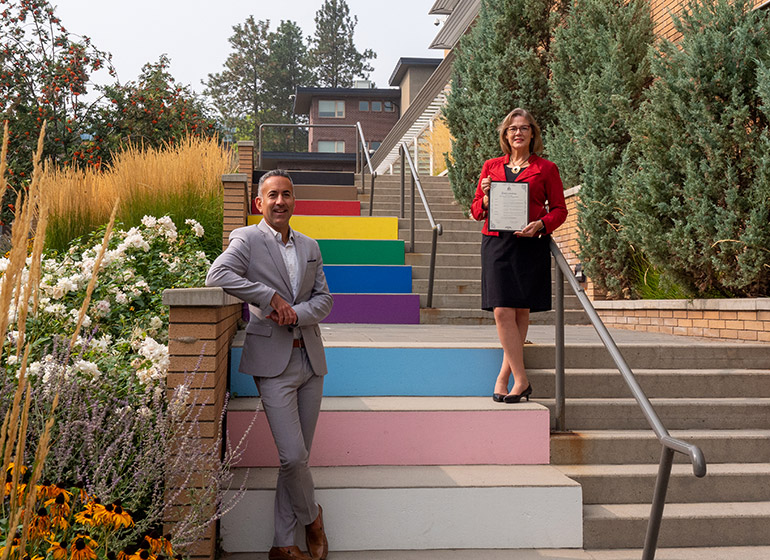 Kelowna Mayor Colin Basran and UBCO's Deputy Vice-Chancellor and Principal Lesley Cormack have officially declared September 25 to 27 UBCO Homecoming weekend in the City of Kelowna.