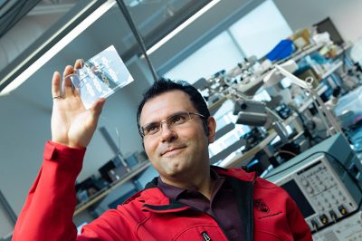 UBCO researcher Mohammad Zarifi has made significant improvements to the real-time sensors that monitor frost and ice build-up on airplanes and turbines.