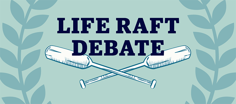 UBC Okanagan third-annual Life Raft Debate graphic
