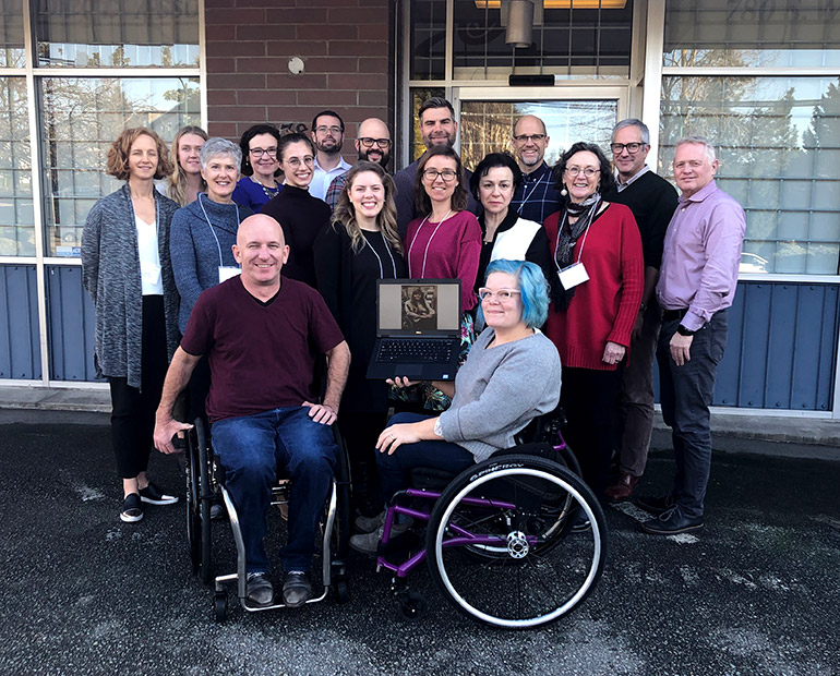 Members of the integrated knowledge translation guiding principles team at the consensus meeting in Vancouver, November 2019.