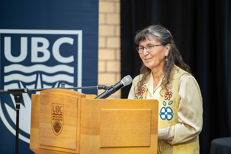 Dr. Jeannette Armstrong, associate professor of Indigenous Studies at UBC Okanagan.